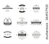 set of minimal vintage hipster... | Shutterstock .eps vector #363927920