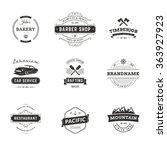 set of minimal vintage hipster... | Shutterstock .eps vector #363927923