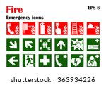 vector fire emergency icons.... | Shutterstock .eps vector #363934226