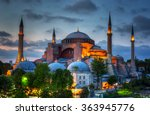 Hagia Sophia On A Sunset ...