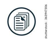 document icon  on white...   Shutterstock .eps vector #363947306