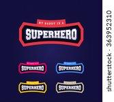 super hero power full... | Shutterstock .eps vector #363952310