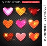 set of valentines day or...   Shutterstock .eps vector #363957374