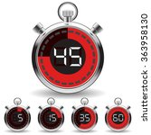 digital timer | Shutterstock .eps vector #363958130