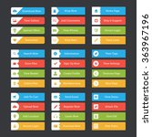 web button pack with icons | Shutterstock .eps vector #363967196