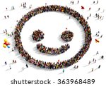 large and diverse group of... | Shutterstock . vector #363968489