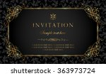invitation card   black and... | Shutterstock .eps vector #363973724