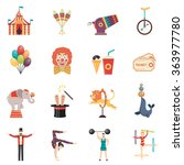 circus performance flat color... | Shutterstock .eps vector #363977780
