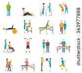 physiotherapy rehabilitation... | Shutterstock .eps vector #363977888
