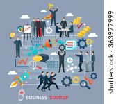 business startup concept with... | Shutterstock .eps vector #363977999