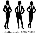 portrait of three business... | Shutterstock .eps vector #363978398