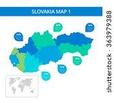 slovakia map template 1   Shutterstock .eps vector #363979388