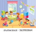 children's activity in the play ... | Shutterstock .eps vector #363983864