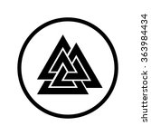 Valknut Icon In A Circle