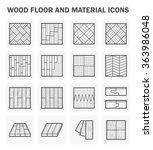 wood floor and material vector... | Shutterstock .eps vector #363986048