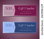 gift voucher card | Shutterstock .eps vector #363986129
