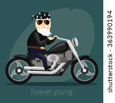 my grandfather forever young... | Shutterstock .eps vector #363990194