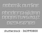set of stylish  3d alphabet... | Shutterstock .eps vector #363990800