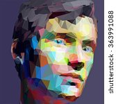 low poly abstract portrait man. ... | Shutterstock .eps vector #363991088