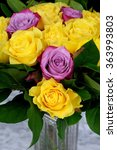 Bouquet Of Yellow Roses With...