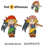 find differences  game for... | Shutterstock .eps vector #363994370