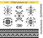 vector tribal elements  ethnic... | Shutterstock .eps vector #363994940