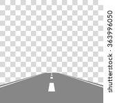 straight road on transparent