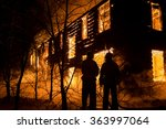 photo of firemans trying to... | Shutterstock . vector #363997064