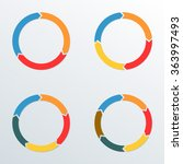 circle arrows set. circle... | Shutterstock .eps vector #363997493