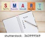 word spell smart goals and... | Shutterstock . vector #363999569