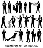 set of business silhouette.... | Shutterstock . vector #36400006