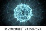 beautiful blue plasma ball....   Shutterstock . vector #364007426