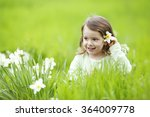 sweet girl in the grass with... | Shutterstock . vector #364009778