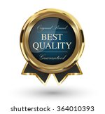 golden best quality badge.... | Shutterstock .eps vector #364010393