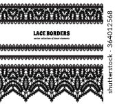 black and white lace background ... | Shutterstock .eps vector #364012568