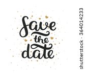 save the date card  hand drawn... | Shutterstock .eps vector #364014233