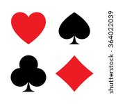 set of playing card symbols...   Shutterstock . vector #364022039