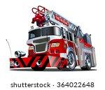 vector cartoon firetruck....
