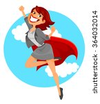 business woman with a superhero'... | Shutterstock .eps vector #364032014