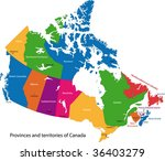 colorful canada map with... | Shutterstock .eps vector #36403279