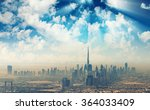 beautiful skyline of dubai... | Shutterstock . vector #364033409