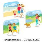 vector sets of people with... | Shutterstock .eps vector #364035653