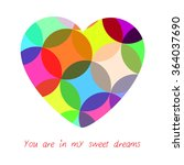 multicolored heart. you are in... | Shutterstock .eps vector #364037690