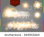 glow golden light spark set on ... | Shutterstock .eps vector #364042664