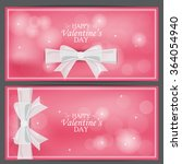 love valentine day banner. can... | Shutterstock .eps vector #364054940