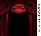 Red Theater Curtain With Soft...