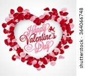 valentines day vintage... | Shutterstock .eps vector #364066748