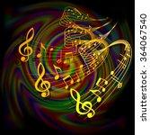 vector illustration of musical... | Shutterstock .eps vector #364067540