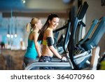 beautiful women in gym | Shutterstock . vector #364070960