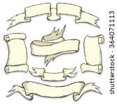 vector set of vintage ribbons | Shutterstock .eps vector #364071113